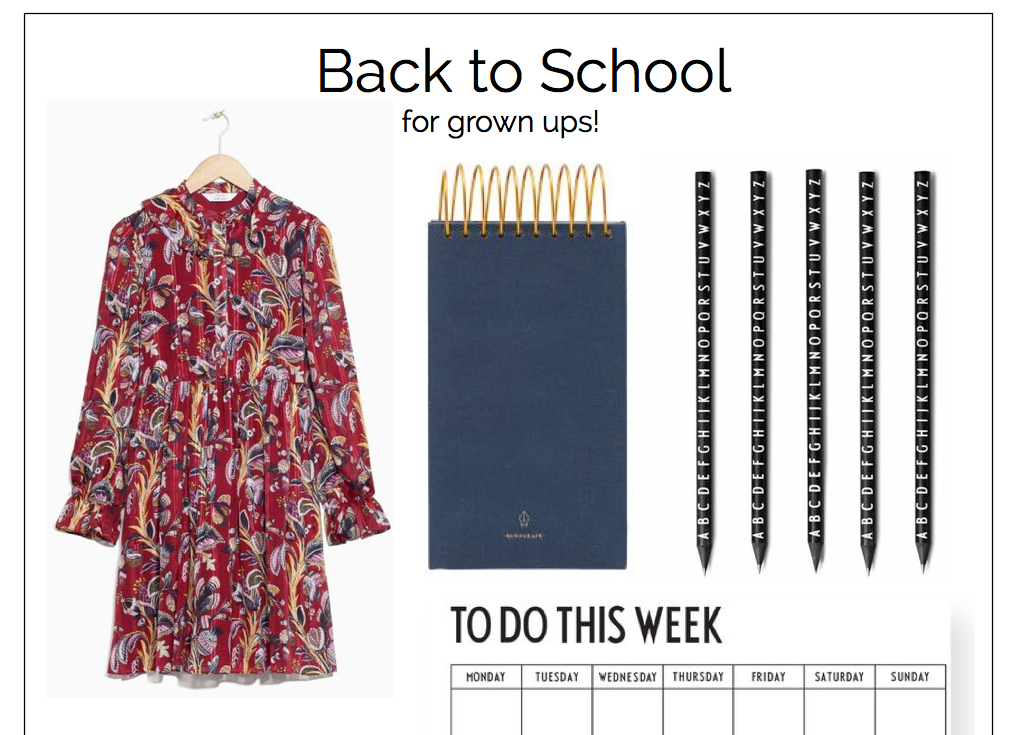 Back to school for grown ups September Moodpboard allthelittledetails.de